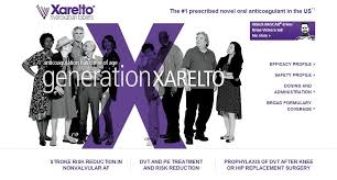 Xarelto Ad. Image Courtesy of linkedin.com.